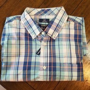 Men's XL George Blue Plaid Button Down